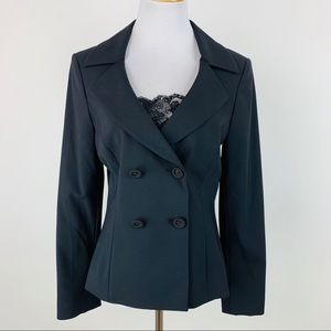 Tahari Wool Blend Double Breasted Blazer sz 6